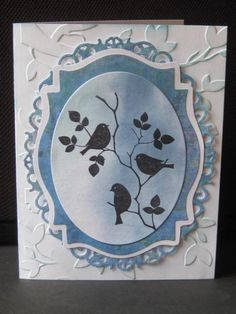 Spellbinders Oval, Label 18 and Floral Oval