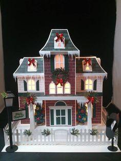 decoraciones de navidad hechas con papel para nuestra casa de muñecas ( sylvanian families, lps...)