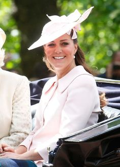 Getting close to baby! Before Kate Middleton begins 26 weeks of maternity leave, she was on hand to join the Royal family at her last official engagement, the Trooping the Colour ceremony in London, on Saturday, June 15.