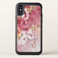 Custom Pretty Flowers Pattern Watercolor Painting Speck iPhone X Case