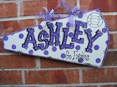 PERSONALIZED CHEER MEGAPHONE via Etsy