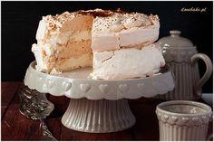 Tort cytrynowo-kokosowy z musem cytrynowym i lemon curd - przepis - I Love Bake Vanilla Cake, Cheesecake, Gluten Free, Sweets, Cookies, Food, Mascarpone, Cakes, Vanilla Sponge Cake