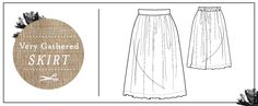 {Free Pattern} -Very Gathered Skirt - Pattern Runway Sewing Patterns Free, Sewing Tutorials, Free Pattern, Sewing Projects, Sewing Ideas, Girl Doll Clothes, Sewing Clothes, Love Sewing, Sewing Box