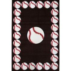 LA Rug Inc Fun Time Baseball Time Multi Colored 39 in. x 58 in. Area Rug-FT 91 3958 at The Home Depot