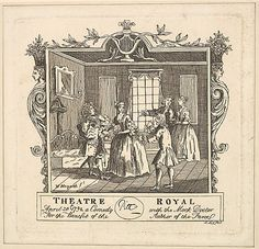 Ticket for Fielding's The Mock Doctor, after William Hogarth, 1792