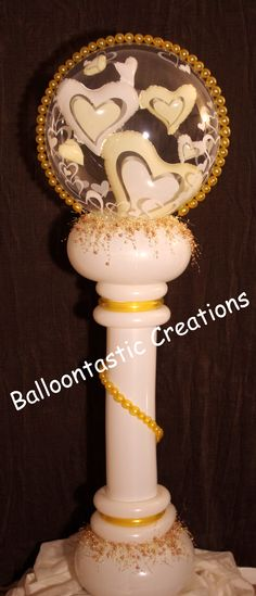 Cherished Hearts Pedestal ...perfect for a romantic wedding...www.BalloontastikCreations.com