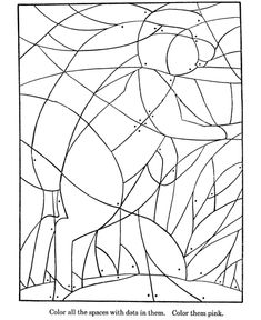 Hidden Picture Coloring Page | Fill in the colors to find hidden Bunny Rabbit and coloring pages Kids Activity sheet | HonkingDonkey