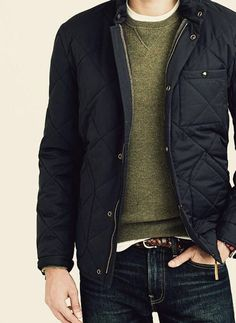 Another great casual look. I love the quilted jacket!