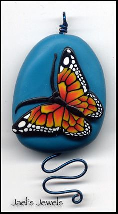 Another simple focal pendant, with the butterfly buffed to a high gloss, and the background left matte.