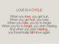 Agreed. It'll never be an ending cycle between me and you.