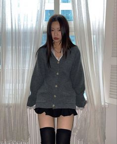 Edgy Outfits, Korean Outfits, Cute Casual Outfits, Fashion Outfits, Asian Fashion, Look Fashion, Girl Fashion, Aesthetic Fashion, Aesthetic Clothes