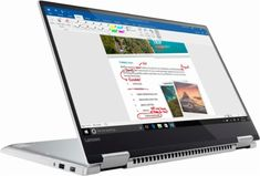 """Lenovo - Yoga 720 2-in-1 15.6""""Touch-Screen Laptop - Intel Quad Core i7 - 8GB Memory - 256GB Solid State Drive - Platinum Silver - Angle_Zoom"""