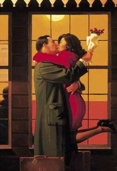 Jack Vettriano | Back Where You Belong | Kiss | Station | Welcome | Happiness | Love
