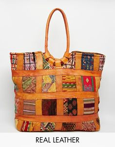 Image 1 ofHiptipico Patchwork Leather Tote Bag