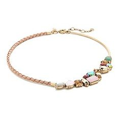 Crew for the Crystal foliage braided leather necklace for Women. Find the best selection of Women Jewelry available in-stores and online. Pink Jewelry, Jewelry Box, Jewelery, Jewelry Accessories, Fashion Accessories, Fashion Jewelry, Women Jewelry, Leather Necklace, Leather Jewelry