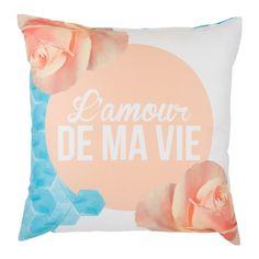 Cuscino Acquerello // Rose - back  Morbido cuscino in texure acquerello. 100% Gabardine di Cotone // Made in italy