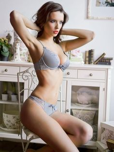 Beautiful grey lingerie