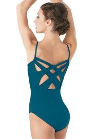 Nylon Camisole Twist-Back Leotard | Balera™