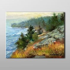 Landscape Oil Painting Hand-Painted Canvas Wall Art Hall Groat II One Panel Ready to Hang – CAD $ 138.99