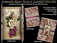 Sympathy Roses Tuck-in Gatefold Mini Kit
