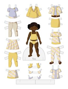 Paper Doll School: Toddler Fashion Friday - Nina Black / African-American / people of color paperdolls