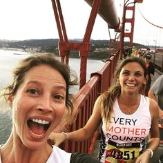 Golden Gate Bridge selfie with my coach @sophruns Thanks for pushing me today. So fun running with you! #runSF @runteamemc
