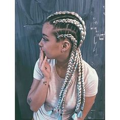 Image result for white girls with cornrows