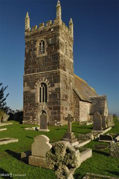 Church of St Grada and the Holy Cross on The Lizard. The church once had a silver box which was said to contain a piece of Christ's cross, donated by a souvenir-collecting pilgrim shipwrecked on the Lizard on the return from Jerusalem - hence it was known as the Church of the Holy Cross during the Middle Ages.