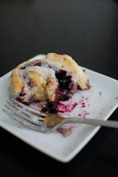 Blueberry Cinnamon Rolls | Beantown Baker