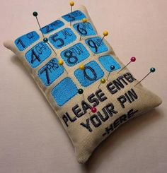 Pincushions in Sewing, Quilting & Needle Crafts - Etsy Craft Supplies Machine Embroidery Gifts, Machine Embroidery Designs, Hand Embroidery, Embroidery Stitches, Sewing Crafts, Sewing Projects, Sewing Tools, Love Sewing, Sewing Accessories