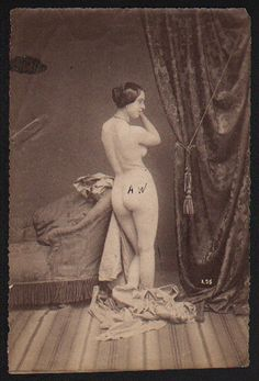 French YOUTHFUL NUDE A Classically Inspired POSE circa 1860s ~ PARIS Latest!
