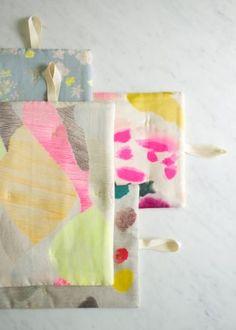 Simple Stitched Hot Pads in Nani Iro | Purl Soho