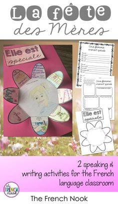 la fete des meres French Mother's Day activity - Father's Day in 2019 Mother's Day Activities, Writing Activities, Educational Activities, Teaching Materials, Teaching Tools, Core French, French Education, French Resources, Classroom Organization