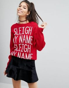 Boohoo Sleigh My Name Holidays Sweater