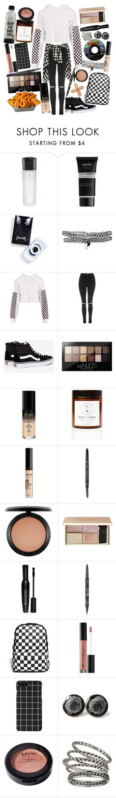 """""""She said I'm a crybaby, I can't be up lately. Girl, you drive me crazy, AMG Mercedes. Speedin' down the highway, lookin' at the street lights"""" by thelyricsmatter ❤ liked on Polyvore featuring MAC Cosmetics, NYX, Black Magic Lashes, Hot Topic, Boohoo, Topshop, Vans, Maybelline, Milani and Birchrose + Co."""