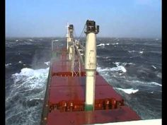 Ship in rough seas. I would be terrified.