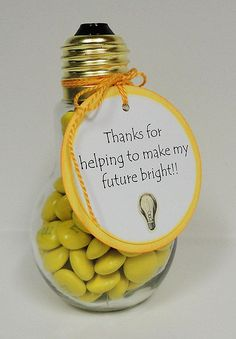 Show your guests how important their attendance at your party is to you by giving them a lightbulb souvenir. You can purchase lightbulbs in the shape of a jar and unscrew the cap to fill them with gumballs. Find this idea on Pinterest.   - Seventeen.com
