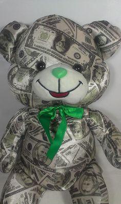 "JUMBO Huge Large 26"" Money Bear Stuffed Animal Teddy Denaro Currency Plush Toy  #FunFunToys"