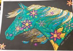 The Wonderful World of Horses: Midnight Edition: Images now with a midnight black background Horse Coloring Pages, Coloring Book Art, Adult Coloring Pages, Image Now, Tangled, Black Backgrounds, Wonders Of The World, Horses, Abstract