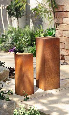 In Trendigem Design, Metall Mit Herausnehmbarem Einsatz, Zum Bepflanzen Mit  Folie Ausschlagen, Auch Als Feuerschale Verwendbar | Rostdeko | Pinterest