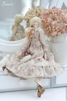 Купить Эмма - бежевый, тильда, кукла текстильная, кукла интерьерная, кукла Тильда