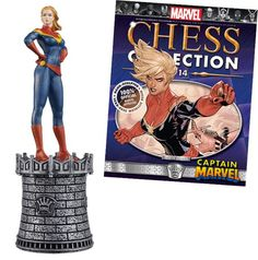 Captain Marvel white queen chess piece