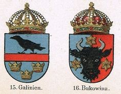 Austro-Hungarian Empire Coat of Arms, Antique Lithograph from ...