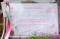 Cute, forest animals and butterflies drawings, pink stardust and girly ribbons invitation Butterfly Drawing, Baptism Invitations, Christening, Little Girls, Girly, Forest Animals, Ribbons, Butterflies, Pink