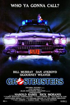 Ghostbusters Ecto-1 Poster  I want this for my movie poster collection!