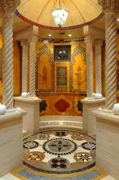 versace-mansion-shower real luxury you won't even feel like stepping out!!