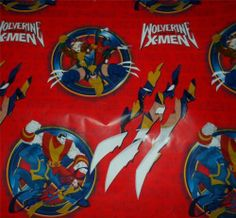 """Wrapping Paper """"Wolverine x Men"""" 4ft x 3 33ft Christmas Birthday Gift Rogue 