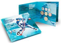 Tšekin virallinen jääkiekon MM-rahasarja sisältää lahjamitalin, joka kuvaa kisamaskotteja, valloittavia Bobia ja Bobekia! #jääkiekko #icehockey #mm-kisat