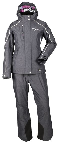 Lily Collection Black Heather jacket with matching bibs!