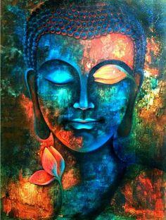 Original acrylic art painting on canvas buddha painting zen art meditation large Art Buddha, Buddha Kunst, Buddha Painting, Buddha Canvas, Buddha Head, Buddha Drawing, Buddha Buddhism, Buddha Meditation, Zen Painting